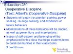 education 230 cooperative discipline text albert s cooperative discipline