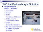 wvu at parkersburg s solution