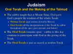 judaism oral torah and the making of the talmud