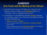 judaism oral torah and the making of the talmud33