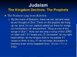 judaism the kingdom declines the prophets20