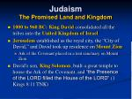 judaism the promised land and kingdom14