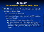 judaism torah and the covenant at mt sinai