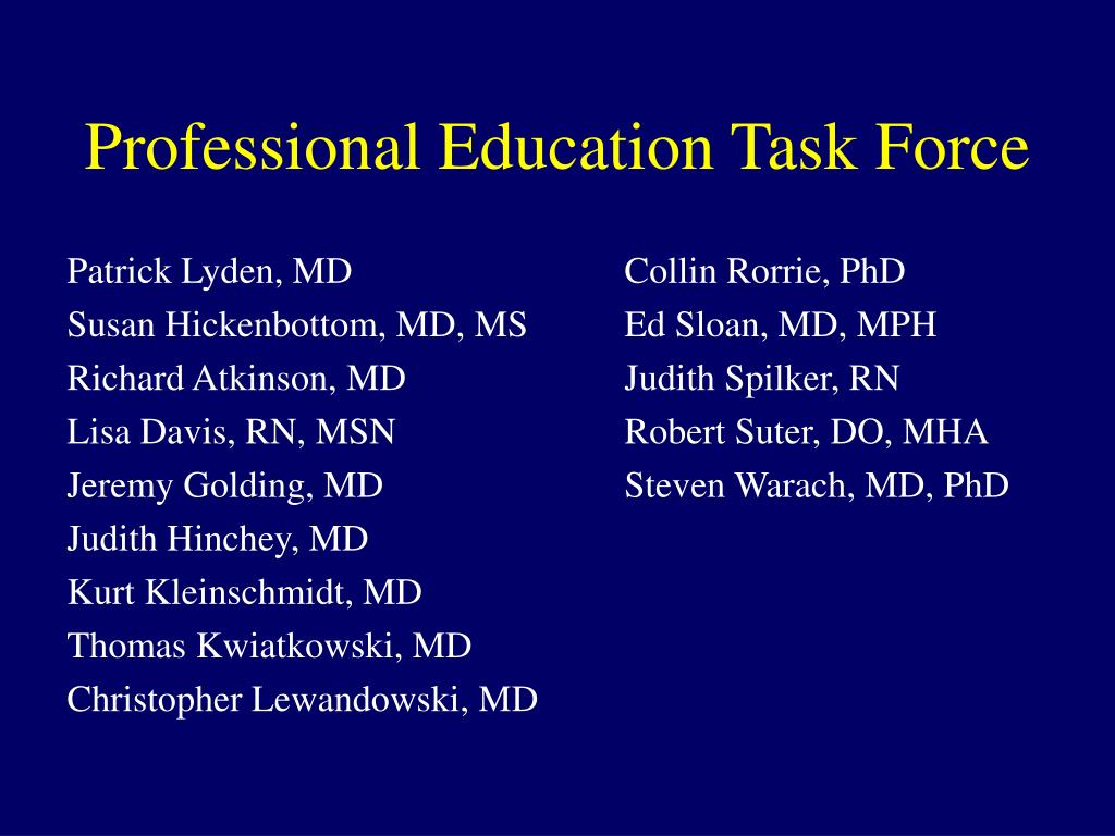 professional education task force l.