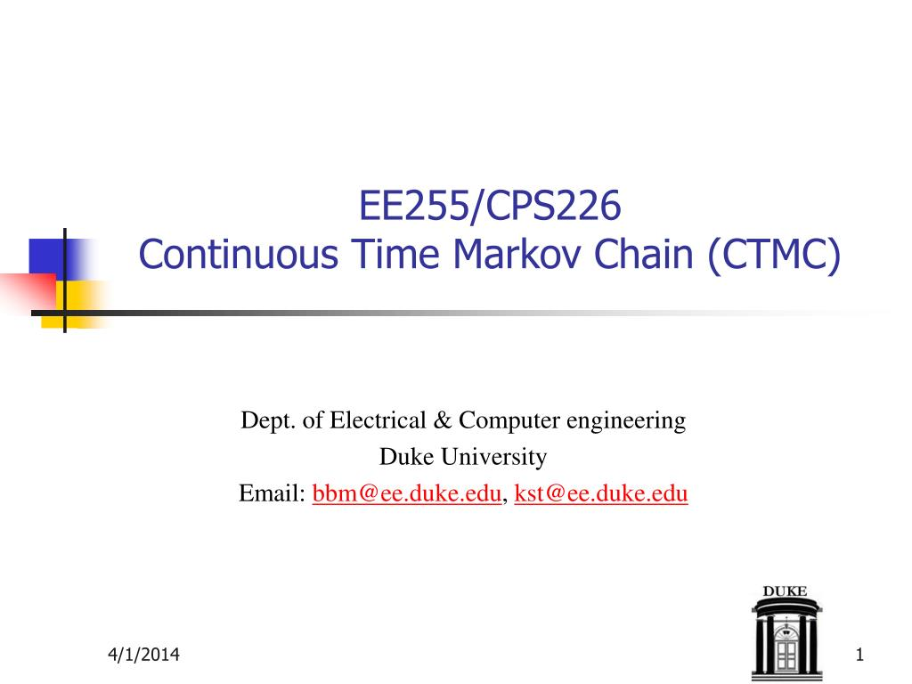 ee255 cps226 continuous time markov chain ctmc l.