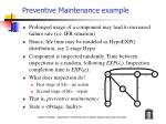 preventive maintenance example