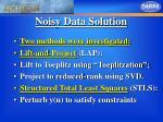 noisy data solution