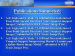 publications supported
