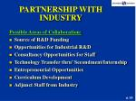 partnership with industry