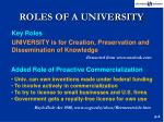 roles of a university