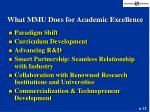 what mmu does for academic excellence