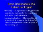 basic components of a turbine jet engine