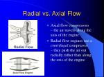 radial vs axial flow