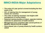 imnci india major adaptations