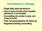 innovations in therapy
