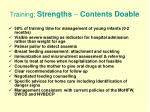 training strengths contents doable