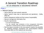 a general transition roadmap for an enterprise or educational network