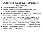automatic tunneling mechanisms 6to4 overview