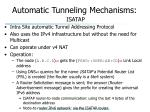 automatic tunneling mechanisms isatap