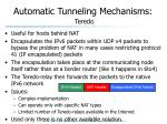 automatic tunneling mechanisms teredo