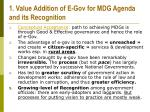 1 value addition of e gov for mdg agenda and its recognition
