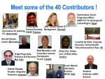 meet some of the 40 contributors