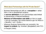 what about partnerships with the private sector