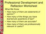 professional development and reflection worksheet10