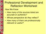 professional development and reflection worksheet11