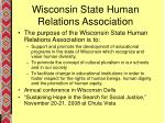 wisconsin state human relations association