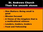 st andrews church their five smooth stones