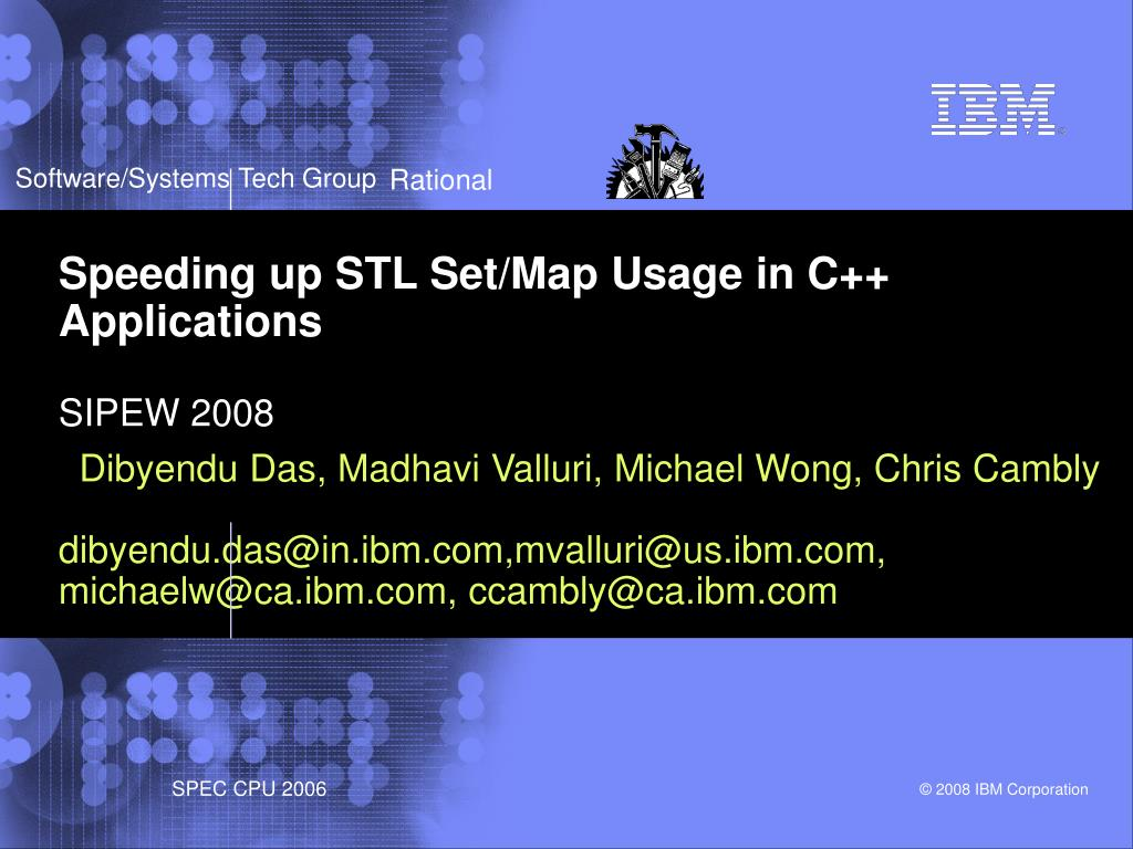 speeding up stl set map usage in c applications sipew 2008 l.