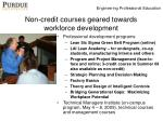 non credit courses geared towards workforce development