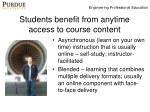 students benefit from anytime access to course content