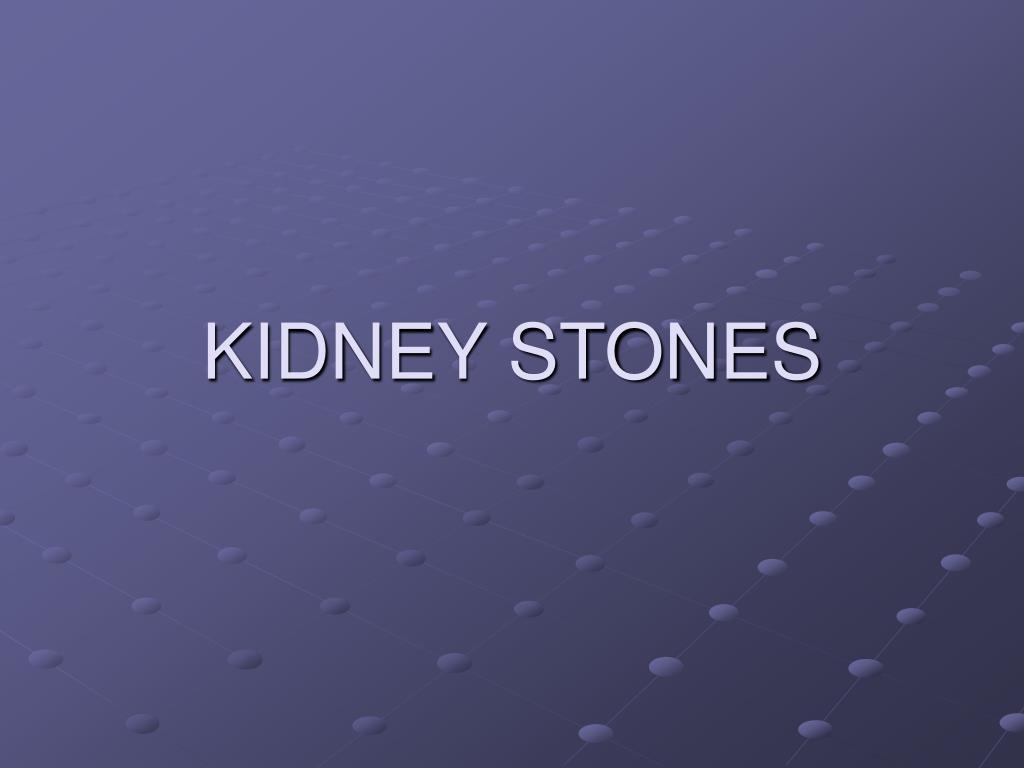 kidney stones l.