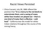 racist views persisted