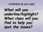 underline as you read