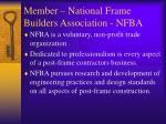 member national frame builders association nfba