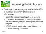 improving public access