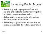 increasing public access