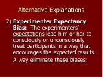 alternative explanations76