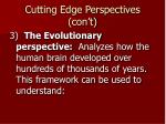 cutting edge perspectives con t