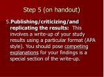 step 5 on handout