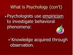 what is psychology con t6