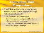 controlling fluid temperature