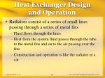 heat exchanger design and operation55
