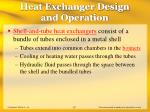 heat exchanger design and operation57