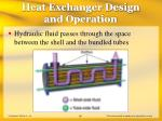 heat exchanger design and operation59