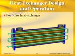 heat exchanger design and operation63