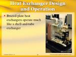 heat exchanger design and operation65